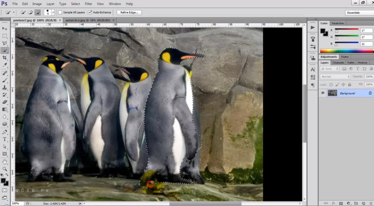 Cum sa schimbi backgroundul in Photoshop